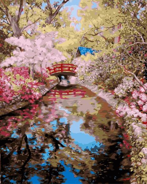 Cherry Blossoms Diy Paint By Numbers Kits UK PL0194