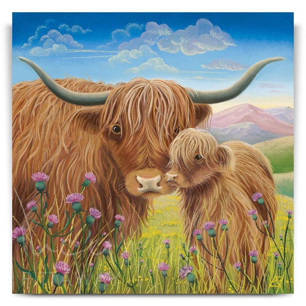 Highland Cow Diy Paint By Numbers Kits UK AN0197
