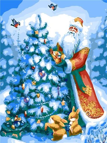 Christmas Paint by Numbers Kits UK CH0019