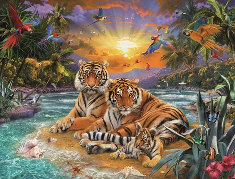 Animal Tiger Paint By Numbers Kits UK AN0019