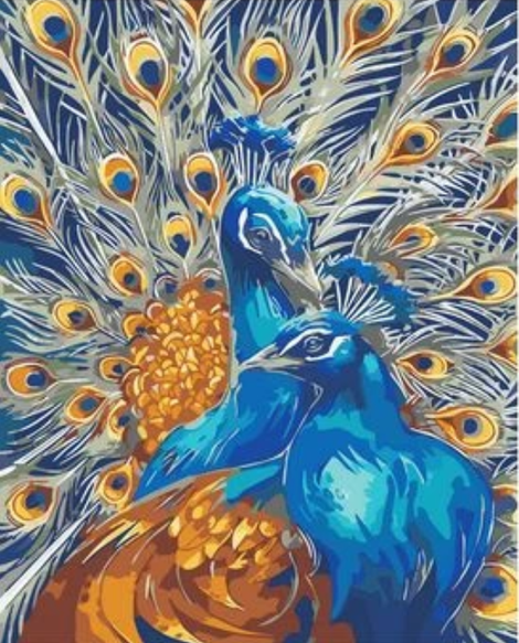 Animal Peacock Diy Paint By Numbers Kits UK AN0675