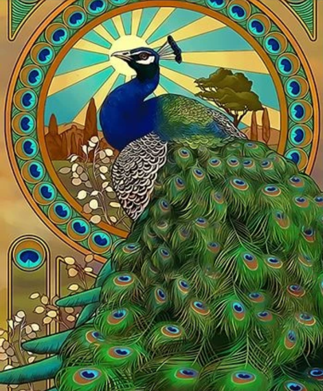 Animal Peacock Diy Paint By Numbers Kits UK AN0667
