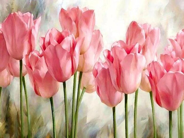 Tulips Diy Paint By Numbers Kits UK PL0231