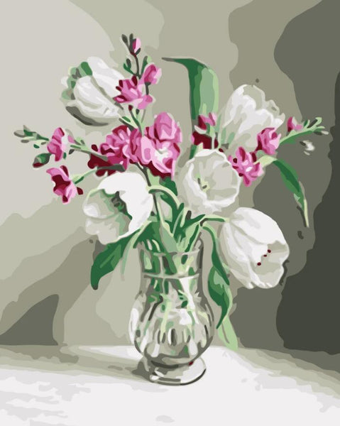 Tulips Diy Paint By Numbers Kits UK PL0235