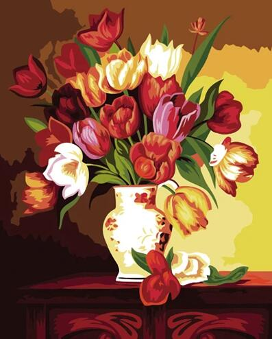 Tulips Diy Paint By Numbers Kits UK PL0239