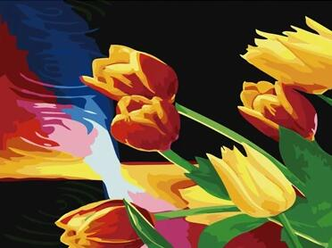 Tulips Diy Paint By Numbers Kits UK PL0242