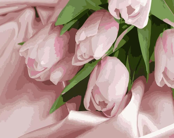 Tulips Diy Paint By Numbers Kits UK PL0243