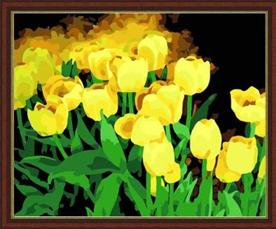 Tulips Diy Paint By Numbers Kits UK PL0248