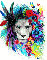 Lion Diy Paint By Numbers Kits UK AN0025