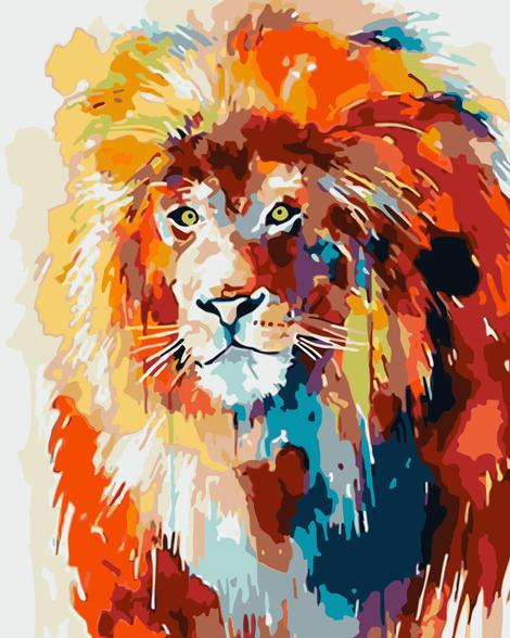 Lion Diy Paint By Numbers Kits UK AN0030