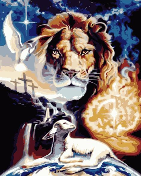 Lion Diy Paint By Numbers Kits UK AN0033