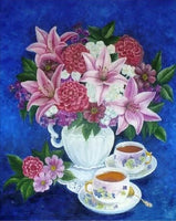 Flower DIY Tableware Paint By Numbers Kits FD226