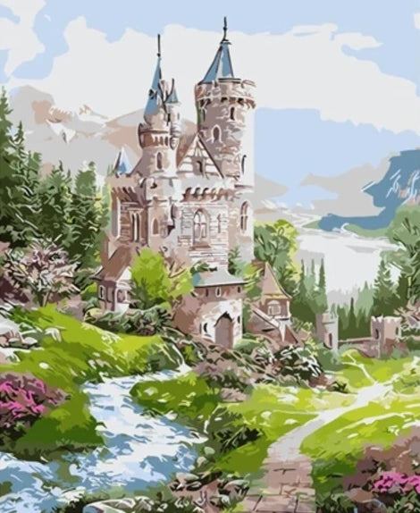 Landscape Castle Diy Paint By Numbers Kits UK BU0072