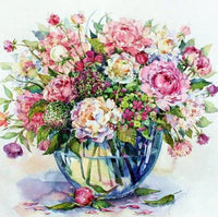 Flower Diy Paint By Numbers Kits UK PL0003