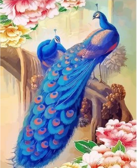 Animal Peacock Diy Paint By Numbers Kits UK AN0688