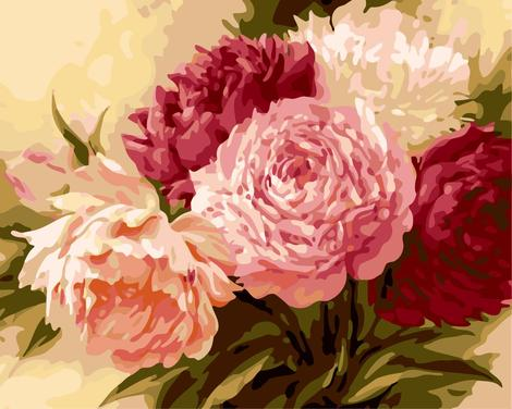Flower Diy Paint By Numbers Kits UK PL0401