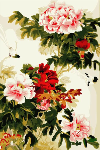 Flower Diy Paint By Numbers Kits UK PL0406