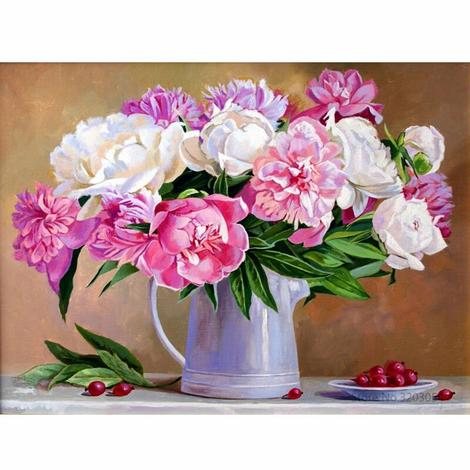 Flower Diy Paint By Numbers Kits UK PL0409