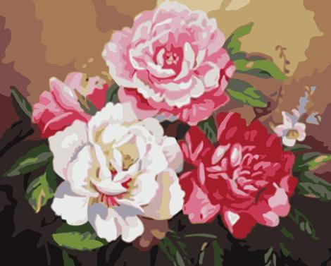 Flower Diy Paint By Numbers Kits UK PL0428