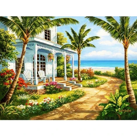Seaside House Diy Paint By Numbers Kits UK BU0103