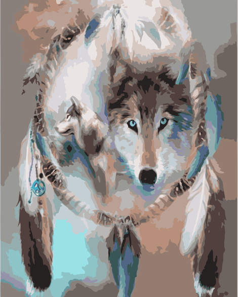 Wolf Diy Paint By Numbers Kits UK AN0044