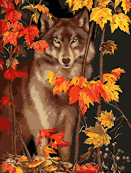 Wolf Diy Paint By Numbers Kits UK AN0045