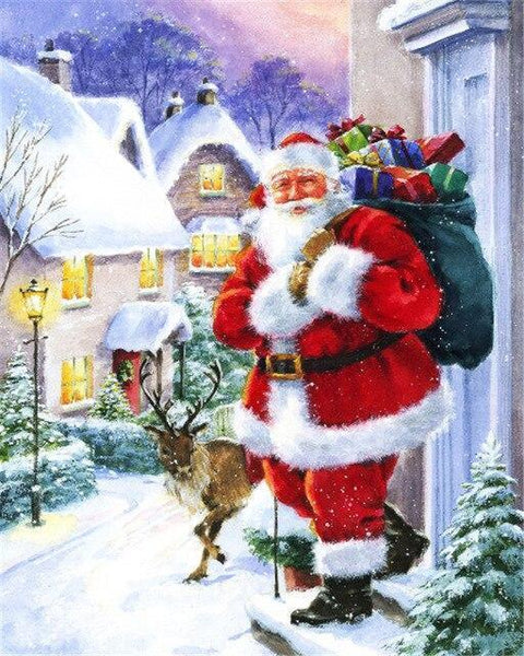 Christmas Series Diy Paint By Numbers Kits UK CH0047