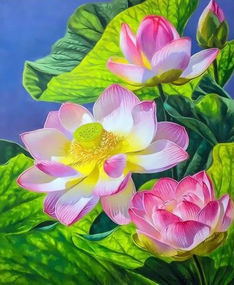 Lotus Diy Paint By Numbers Kits UK,PL0484