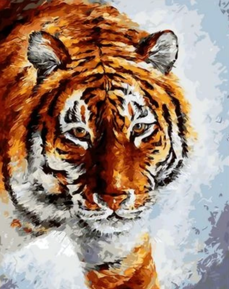 Animal Tiger Diy Paint By Numbers Kits UK AN0366