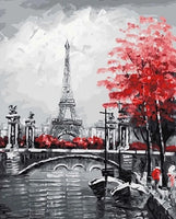 Eiffel Tower Landscape Diy Paint By Numbers Kits UK LS001