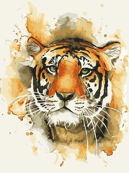 Animal Tiger Diy Paint By Numbers Kits UK AN0004