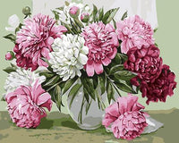 Peony Diy Paint By Numbers Kits UK PL0057