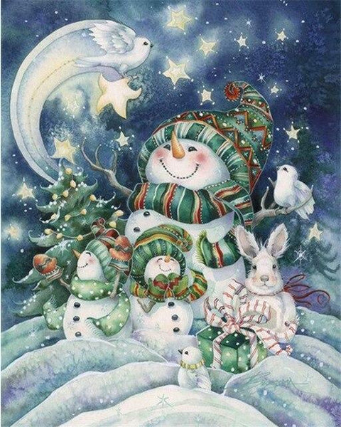 Christmas Series Diy Paint By Numbers Kits UK CH0057