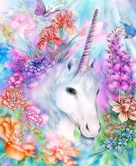 Unicorn Diy Paint By Numbers Kits UK FK255