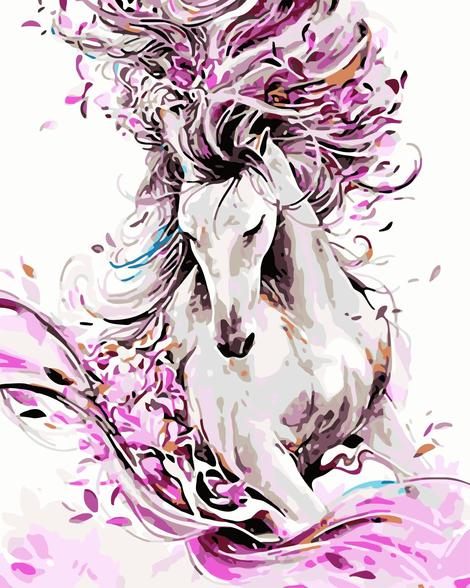 Horse Diy Paint By Numbers Kits UK AN0060