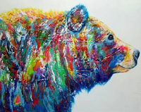 Bear Diy Paint By Numbers Kits UK AN0064
