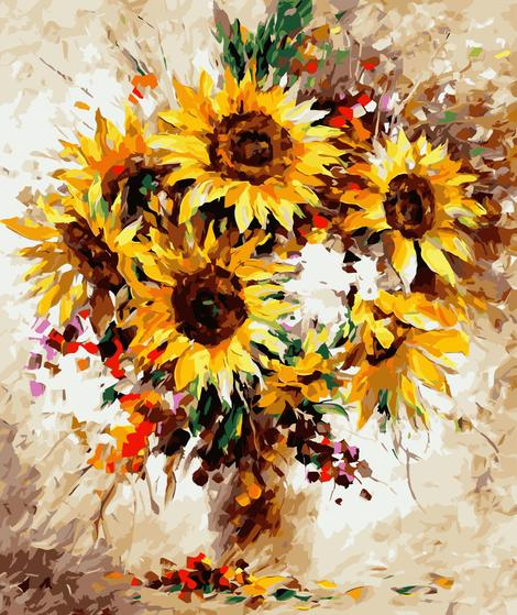Sunflower Diy Paint By Numbers Kits UK PL0064