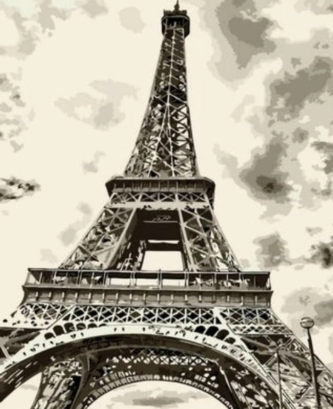 Landscape Eiffel Tower Diy Paint By Numbers Kits LS288