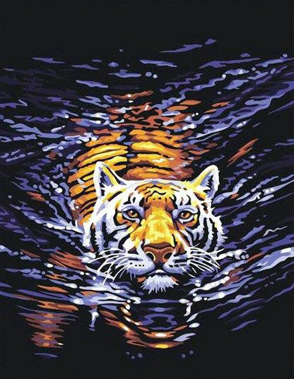 Animal Tiger Diy Paint By Numbers Kits UK AN0006