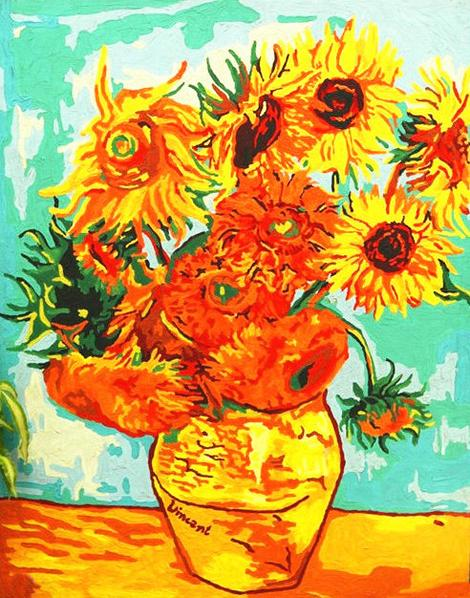 Van Gogh Sunflower Diy Paint By Numbers Kits UK PL0070