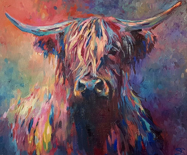 Highland Cow Diy Paint By Numbers Kits UK AN0192