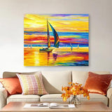 Sunset Sailing Landscape Diy Paint By Numbers Kits UK PP0011