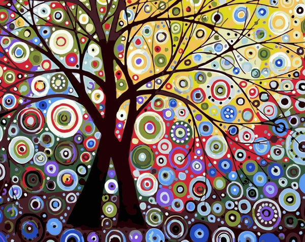 Tree Diy Paint By Numbers Kits UK PL0078