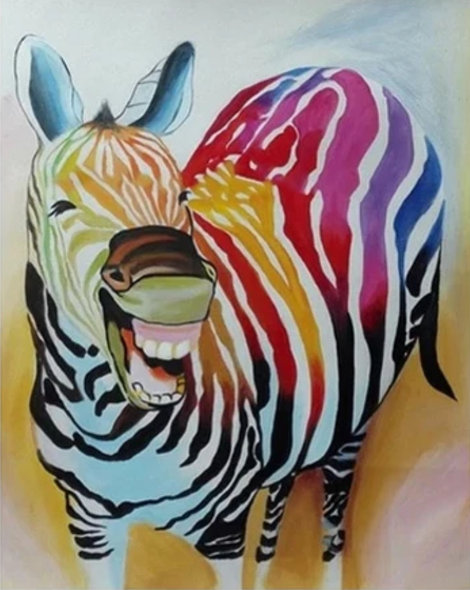 Zebra Diy Paint By Numbers Kits UK AN0795