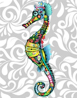 Colorful Seahorse Paint By Numbers Kits UK MA110