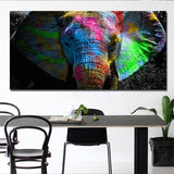 Colorful African Elephant Diy Paint By Numbers Kits UK AN0080