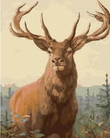 Animal Deer Diy Paint By Numbers Kits For Adults UK AN0094