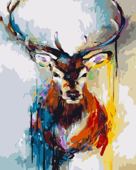 Deer Diy Paint By Numbers Kits UK AN0099