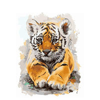 Tiger Diy Paint By Numbers Kits UK AN0009