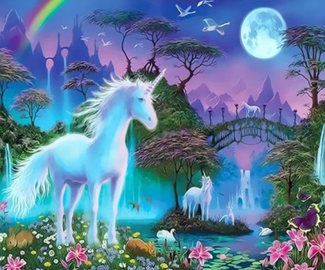 Unicorn Diy Paint By Numbers Kits UK FK261